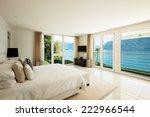 Stock photo modern interior design comfortable bedroom 222966544