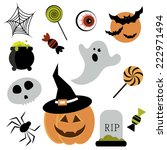 halloween elements | Shutterstock .eps vector #222971494