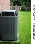 AC on backyard - stock photo
