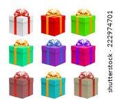 gift. vector | Shutterstock .eps vector #222974701
