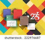 creative new year calendar 2015 ... | Shutterstock .eps vector #222976687
