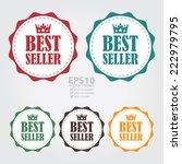 vector   colorful vintage best...   Shutterstock .eps vector #222979795