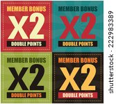 vector   colorful member bonus... | Shutterstock .eps vector #222983389