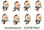 phases of step movements... | Shutterstock .eps vector #222987865