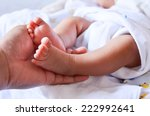 Baby Feet Newborn Into Mother's ...
