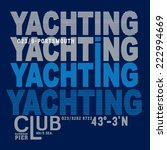 yachting vector typography  t... | Shutterstock .eps vector #222994669