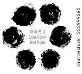 vector set of 6 grunge black... | Shutterstock .eps vector #222999265