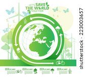 save the world   Shutterstock .eps vector #223003657