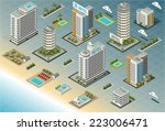 isometric building city palace... | Shutterstock .eps vector #223006471