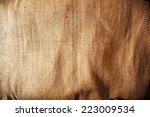 burlap or sackcloth background. | Shutterstock . vector #223009534