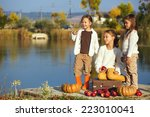 Three Cheerful Little Girls...