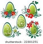 stylized easter eggs isolated... | Shutterstock .eps vector #22301251
