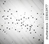 molecule structure  gray...   Shutterstock .eps vector #223013977