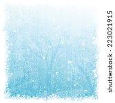 vector winter background | Shutterstock .eps vector #223021915