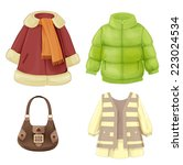 set of seasonal clothes for... | Shutterstock .eps vector #223024534