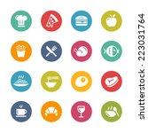 food   drink icons   1    fresh ... | Shutterstock .eps vector #223031764