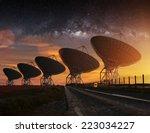 radio telescope view at night...