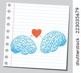 brains in love | Shutterstock .eps vector #223035679
