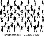 dancing silhouette | Shutterstock .eps vector #223038439