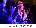 barcelona   sep 23  redhead... | Shutterstock . vector #223038931