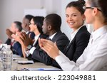 business conference. business... | Shutterstock . vector #223049881