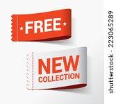 discount color vector labels | Shutterstock .eps vector #223065289