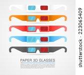 paper 3d glasses  glasses... | Shutterstock .eps vector #223065409