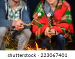 tent camping couple romantic... | Shutterstock . vector #223067401