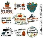 halloween banners | Shutterstock .eps vector #223067695