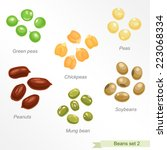 beans and peas second icon set  ...   Shutterstock .eps vector #223068334