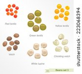 beans and peas third icon set   ... | Shutterstock .eps vector #223068394
