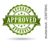 approved stamp | Shutterstock .eps vector #223073041