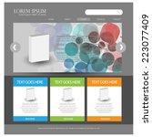 web design template. vector   Shutterstock .eps vector #223077409