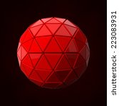 extruded red ball  | Shutterstock . vector #223083931