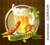 oktoberfest german festival...   Shutterstock .eps vector #223092649