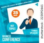public speaking business... | Shutterstock .eps vector #223092661