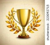 Golden Metallic Trophy Cup...