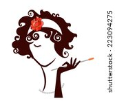 diva flapper woman beauty ...   Shutterstock .eps vector #223094275
