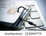 credit card phishing   piles of ...   Shutterstock . vector #223094779