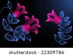 transparent flowers   Shutterstock . vector #22309786