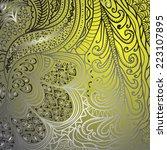 quadrate grey yellow pattern... | Shutterstock .eps vector #223107895