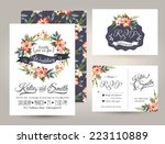 wedding invitation card suite... | Shutterstock .eps vector #223110889