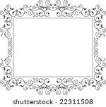 delicate border  frame design ... | Shutterstock .eps vector #22311508