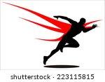 sprinter  champion  winner.... | Shutterstock .eps vector #223115815
