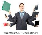 Portrait Of Young Businessman...