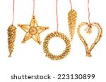 Straw Christmas Ornaments On...