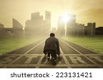 rear view of business person in ... | Shutterstock . vector #223131421