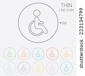 disabled sign icon. human on... | Shutterstock .eps vector #223134799