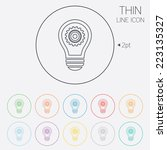 light lamp sign icon. bulb with ... | Shutterstock .eps vector #223135327
