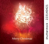 christmas postcard design  ... | Shutterstock .eps vector #223140421